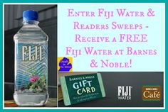 fiji water sweeps - get a free water just for entering!