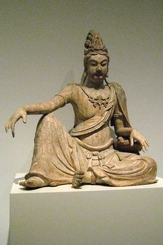 Liao dynasty centuryWood with gesso and pigment. It is said the the personification of perfect Compassion, Avalokiteshvara (Guanyin) Bodhisattva (a great being who aspires to help all sentient beings be . Yin Yoga Sequence, Yin Yoga Poses, Religion, Taoism, European Paintings, Guanyin, Buddhist Art, Asian Art, Art Images