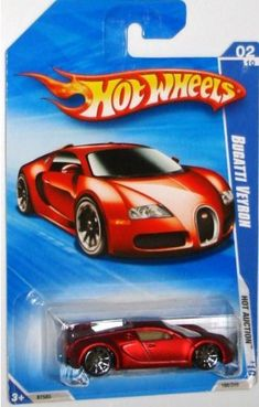 OK, I would never pay $50 for a Hot Wheels, but if anyone sees one of these at a reasonable price, please let me know :)      Hot Wheels 2010-160 RED Bugatti Veyron Hot Auction 1:64 Scale by Mattel, http://www.amazon.com/dp/B003E7HGNU/ref=cm_sw_r_pi_dp_NlyRqb1V34M8Z