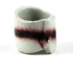 Statement Ceramic Ring Mens Womens Pottery Jewelry Marsala Garnet and White Rustic Handmade January Birthstone Birth colour