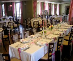 1000 images about idees pour le mariage on pinterest runners wedding and - Grande table rectangulaire ...