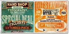 Some awesome typography going on here! Hand Shop Pack - Webfont & Desktop font « MyFonts
