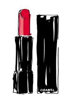 Red Chanel lipstick