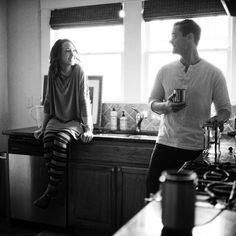 coffee morning engagement session   A Bryan Photo
