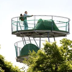 - This mobile multi-story structure is called 'Urban Camping,' and it's a creation by Belgian architects Import. The steel structure allows ca. Camping Spots, Go Camping, Campfire Stories, Camping Shelters, Environmental Design, Steel Structure, Urban Landscape, Urban Design, Landscape Architecture
