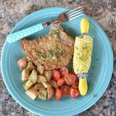 Potato and Pork Bake Grilled Pork Chops, Boneless Pork Chops, Mushroom Wine Sauce, Mushroom Pork Chops, Salt Pork, Steamed Vegetables, Grilled Asparagus, Chops Recipe, Pork Chop Recipes