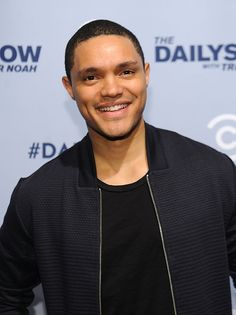 Trevor Noah was born on February 1984 in Soweto, South Africa to a black Xhosa mother and a white Swiss-German father. Trevor Noah Girlfriend, Trevor Noah Quotes, Boys Two Men, Star Photography, New Comedies, Handsome Black Men, T Baby, Comedy Central, Dimples
