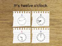 Choose (wybierz) the Correct (właściwy) Clock