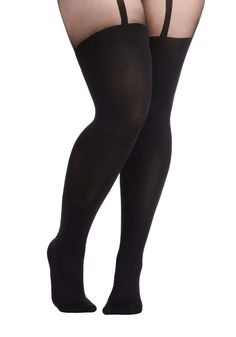 ModCloth Suspends Thriller Tights in Plus Size- I have those