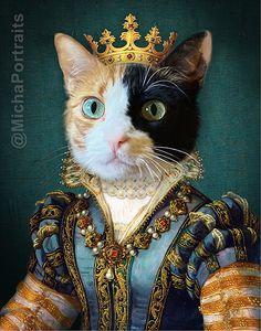 Trippy Cat, Bulldog, Jolie Photo, Animal Heads, Dog Portraits, Whimsical Art, Photomontage, Pet Clothes, Cat Art