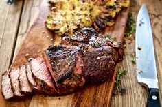 Coffee Rubbed Ribeye Steaks - Make delicious beef recipes easy, for any occasion Beef Recipes, Cooking Recipes, Lamb Ribs, Food Styling, Paleo, Pork, Easy Meals, Dishes, Steaks