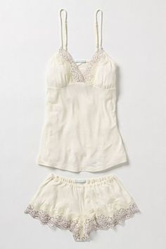 Delicate, lace, cami and shorts