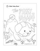 Pokey little puppy party on pinterest little puppies for Little puppy coloring pages
