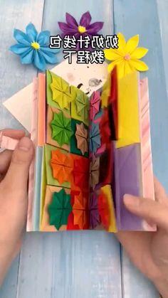 Paper Folding Crafts, Cool Paper Crafts, Diy Crafts To Do, Paper Crafts Origami, Origami Art, Oragami, Diy Pinterest, Geometric Origami, Paper Cards