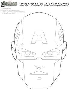 Free #Avengers Printable Halloween Masks to color.
