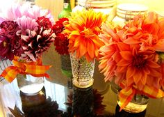 Finished dahlia bouquets