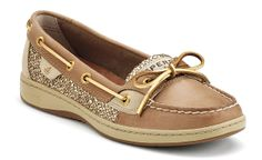 gold accented, sparkly sperry's