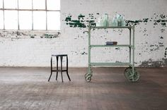 Vintage Jarvis Industrial Bar Cart : Factory 20
