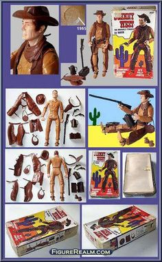Vintage Toys Johnny West (Carmel, Rivets) from Best of the West (Marx) - Johnny West manufactured by Marx [SiggyBoy's Collection] Vintage Toys 1960s, 1960s Toys, Retro Toys, Mode Vintage, My Childhood Memories, Childhood Toys, Gi Joe, Tarzan, Forte Apache