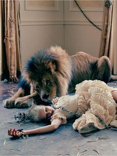 Edie Campbell & Karen Elson by Tim Walker for LOVE Magaine 10 Fall/Winter 2013/2014