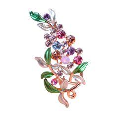 Flower Brooch Pin     FREE Shipping Worldwide     https://fashjewels.de/esmalte-violetta-purple-brooches-luxurious-flowers-broches-for-womans-collar-pins-buckle-broche-relogio-femininos-wedding-dress/