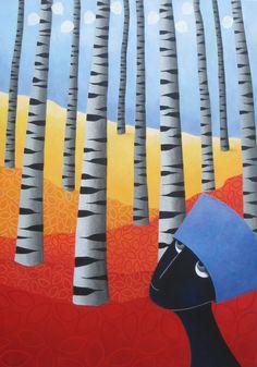 Wandering..  -acryl on canvas- 70x100 cm -Marike Meurs