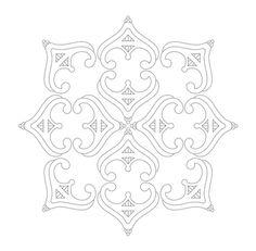 tiara free hand embroidery pattern