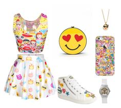 """Emoji "" by covetfashion13 ❤ liked on Polyvore featuring Casetify, Kate Spade, Steve Madden and emoji"