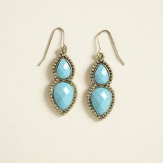 One of my favorite discoveries at WorldMarket.com: Turquoise Double Drop Earrings