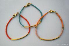 DIY Mother's Day Gift Idea | Beaded Tube Bracelet