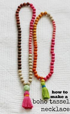 DIY Try: How to make a Tassel Necklace – torontoshopoholic