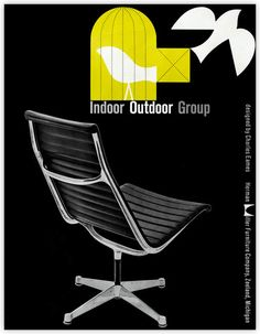Love this 1958 Herman Miller vintage ad for the Eames Aluminum Group chair. Part of the Herman MIller Collection
