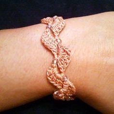 Crochet bracelet, Kaldred: free pattern