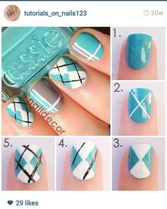 Plaid Nail Design Tutorial