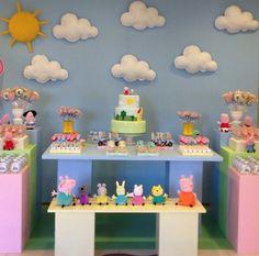 Lsarteydeco Pig Birthday, 2nd Birthday Parties, Cumple George Pig, George Pig Party, Cumple Peppa Pig, Fiesta Party, Birthdays, Party Ideas, Cake