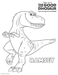 The Good Dinosaur Coloring Pages: Ramsey