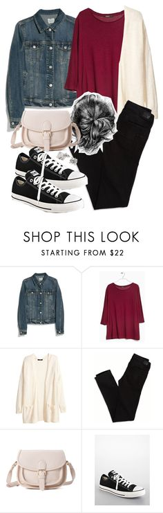 Allison Inspired Affordable Fall Outfit by veterization on Polyvore featuring MANGO, H&M, American Eagle Outfitters, Forever 21, LC Lauren Conrad and Converse
