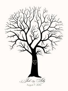 Family Tree Template No Leaves tree without leaves coloring page. a little girl watching ...