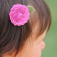 Make simple and sweet rick rack flowers!