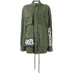 Faith Connexion Faith Connexion Crown Tag Field Jacket (25.440 ARS) ❤ liked on Polyvore featuring outerwear, jackets, green, green military jackets, green field jacket, faith connexion, green jacket and colorful jackets