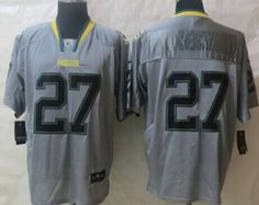 Nike Green Bay Packers  27 Eddie Lacy Lights Out Gray Elite Jersey Lanny  Mcdonald 764e298b5