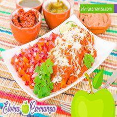 Para preparar en casa deliciosa receta mexicana de enchiladas rojas.