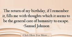 Samuel Johnson Quotes About Birthday - 7134