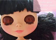Blythe - como hacer sleepy eyes en una Blythe Doll -