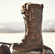Earthkeepers® Mt Hope Mid Leather and Fabric Waterproof Boot - Goes with everything, unfazed by anthing.