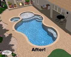 Pool Rennovation, updated sun-shelf, spa, swim-out and pavers.