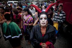 Guatemala City, Guatemala: A transgender attendee at a gay pride parade   Photograph: Rodrigo Abd/AP