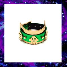 ALIEN INVADER LEATHER BRACELET £180.00 Bling Bling, Techno, Jewelry Collection, Bracelet, Leather, Shopping, Accessories, Wristlets, Bracelets