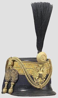 Tschako für einen Rittmeister des 13. Husarenregiments.