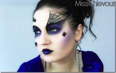 Maquillaje arañas para Halloween